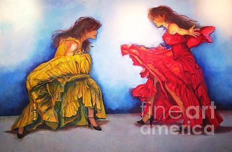 Flamenco Painting - Flamenco II by Dagmar Helbig