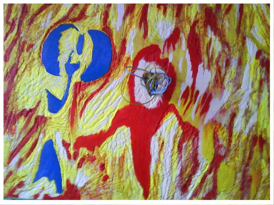Abstract Painting - Flames by Trevor R Plummer