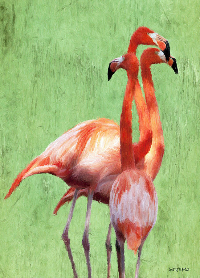 Flamingo Twist Painting
