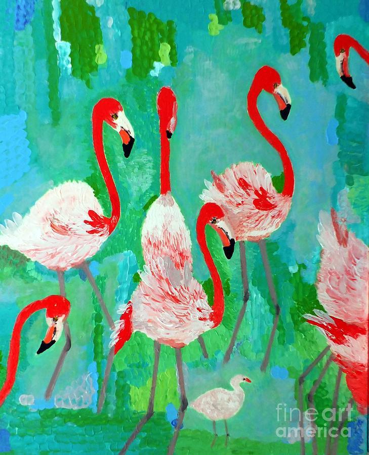 Flamingos 1 Painting