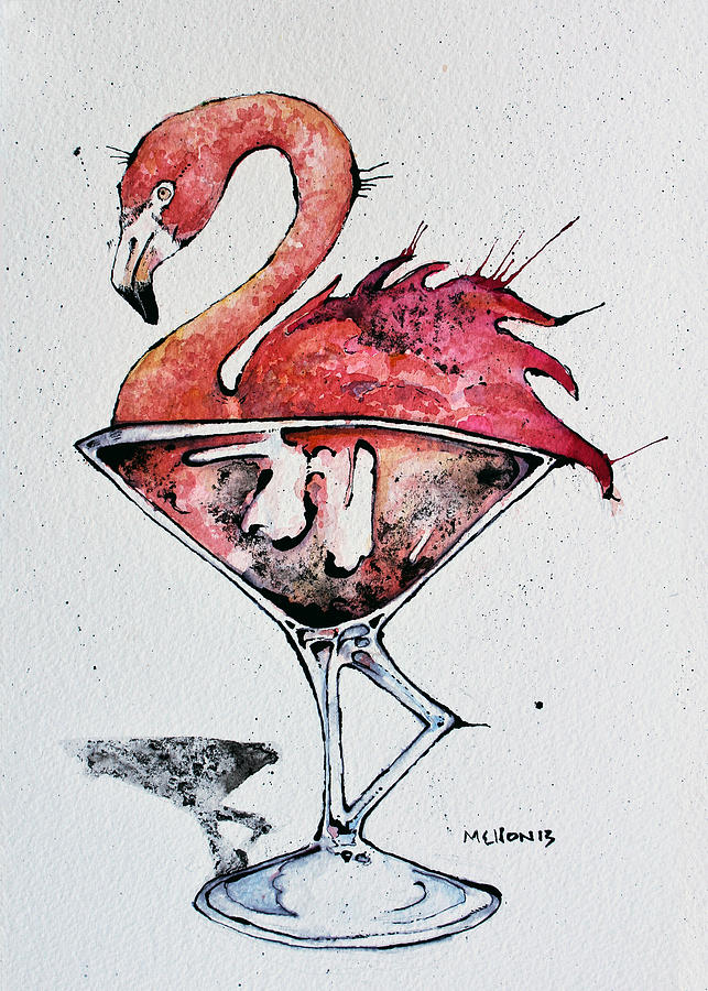 Flamingotini Drawing