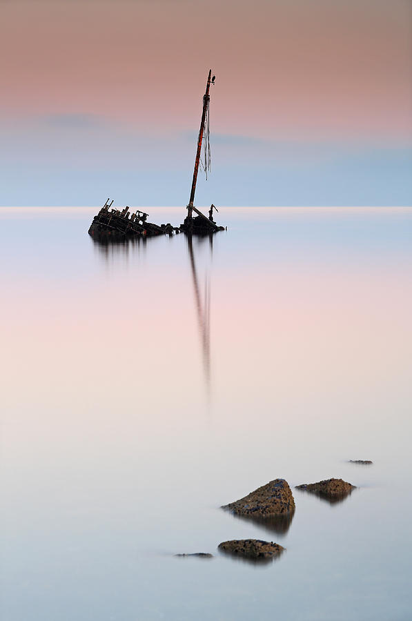 Flat Calm Shipwreck  Photograph