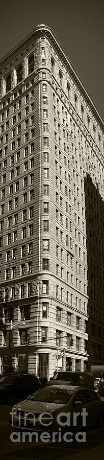 Flatiron In Sepia Photograph