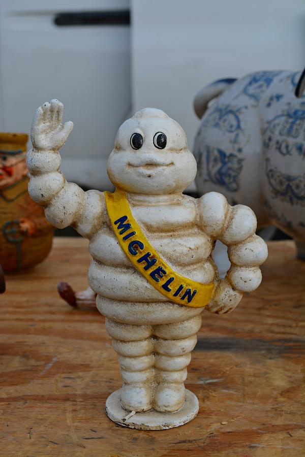 Flea Market Michelin Man Photograph