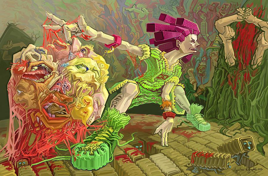 Flesh Digital Art - Flesh Ball Why Is Everything Alive by Augustinas Raginskis
