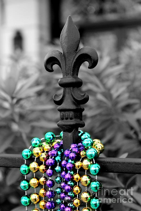 Fleur De Lis With Beads Photograph
