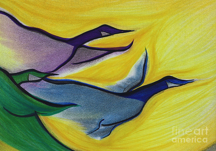 Flight By Jrr Painting  - Flight By Jrr Fine Art Print