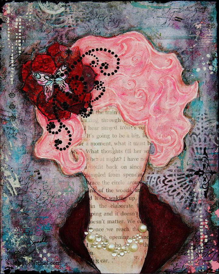 Pink Mixed Media - Flight Of Fancy By Janelle Nichol by Janelle Nichol