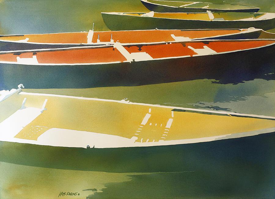 Kris Parins Painting - Floaters by Kris Parins