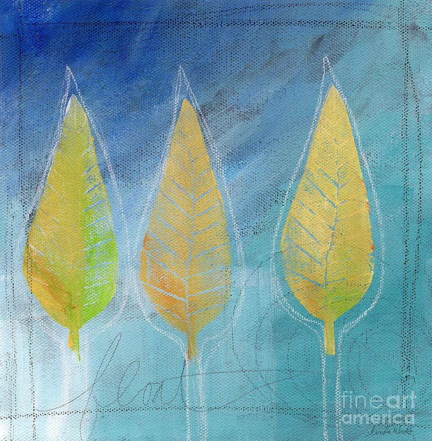 Abstract Painting - Floating by Linda Woods