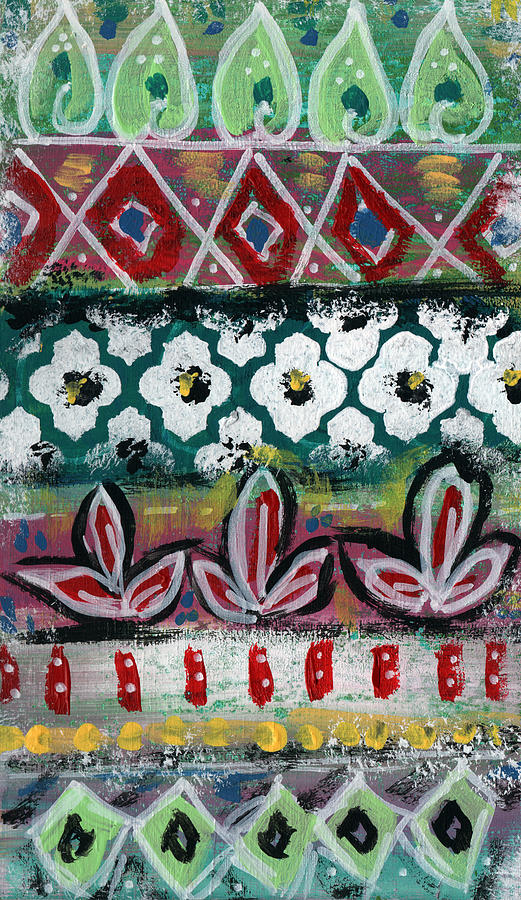 Floral Fiesta- Colorful Pattern Painting Painting