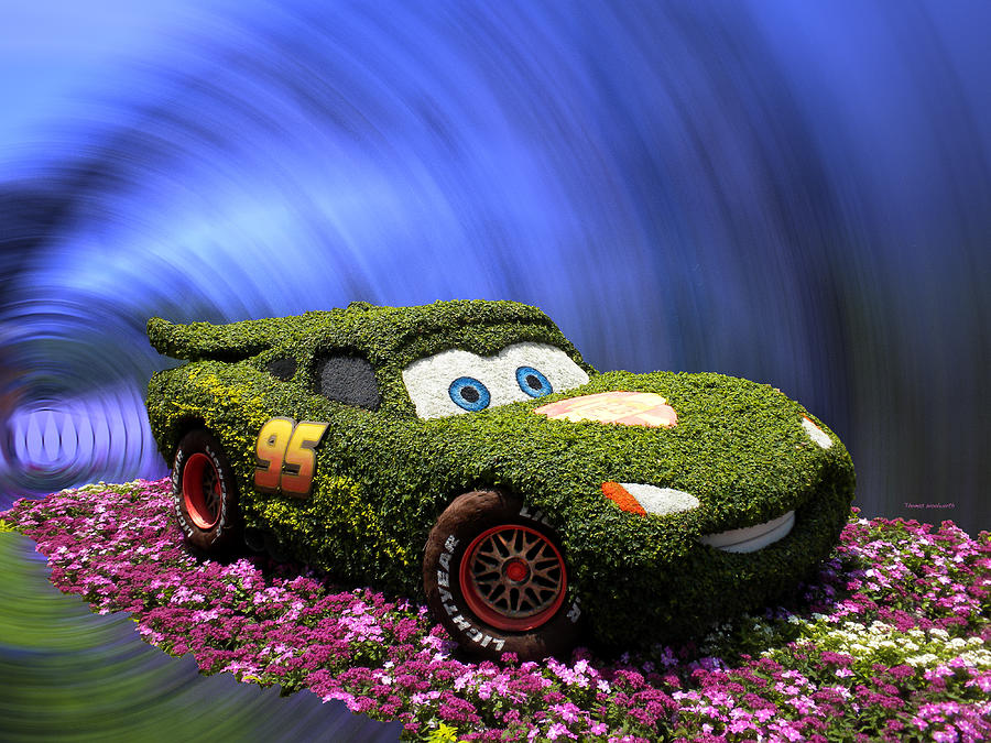 Cars 2 Photograph - Floral Lightning Mcqueen by Thomas Woolworth