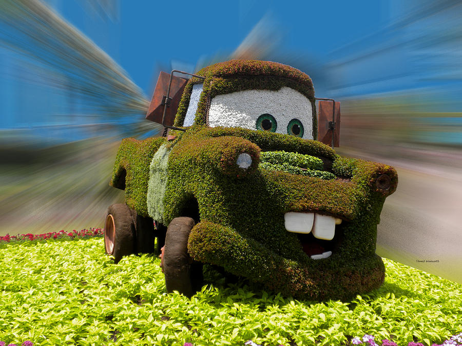 Cars 2 Photograph - Floral Mater by Thomas Woolworth
