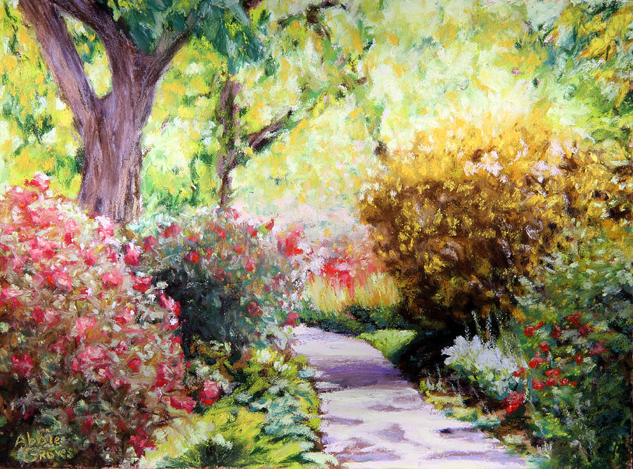 Floral Path is a painting by Abbie Groves which was uploaded on ...
