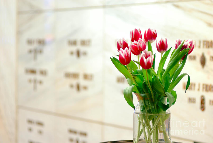 Floral Rememberance At Mausoleum Photograph