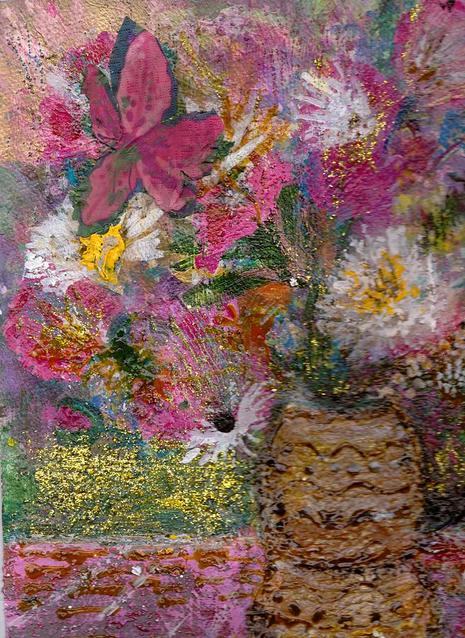 Floral Rhapsody Collage Painting