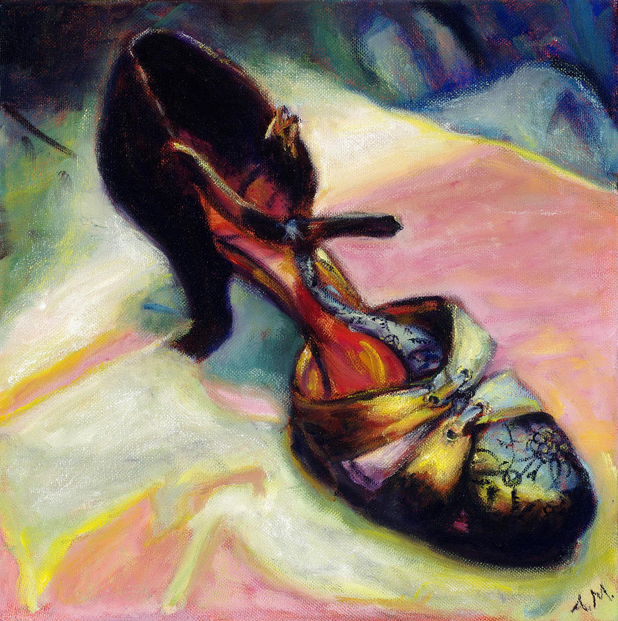 Shoe Painting - Florence by Ann Moeller Steverson