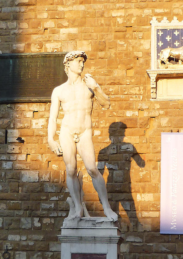 Florence Italy Michelangelo David Replica Photograph