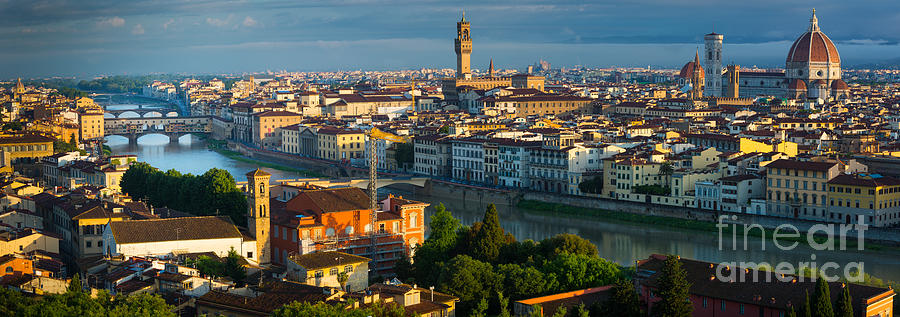 Arno Photograph - Florence Panorama by Inge Johnsson