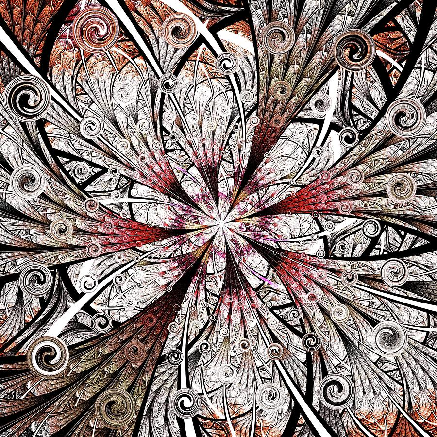 Flower Carving Digital Art