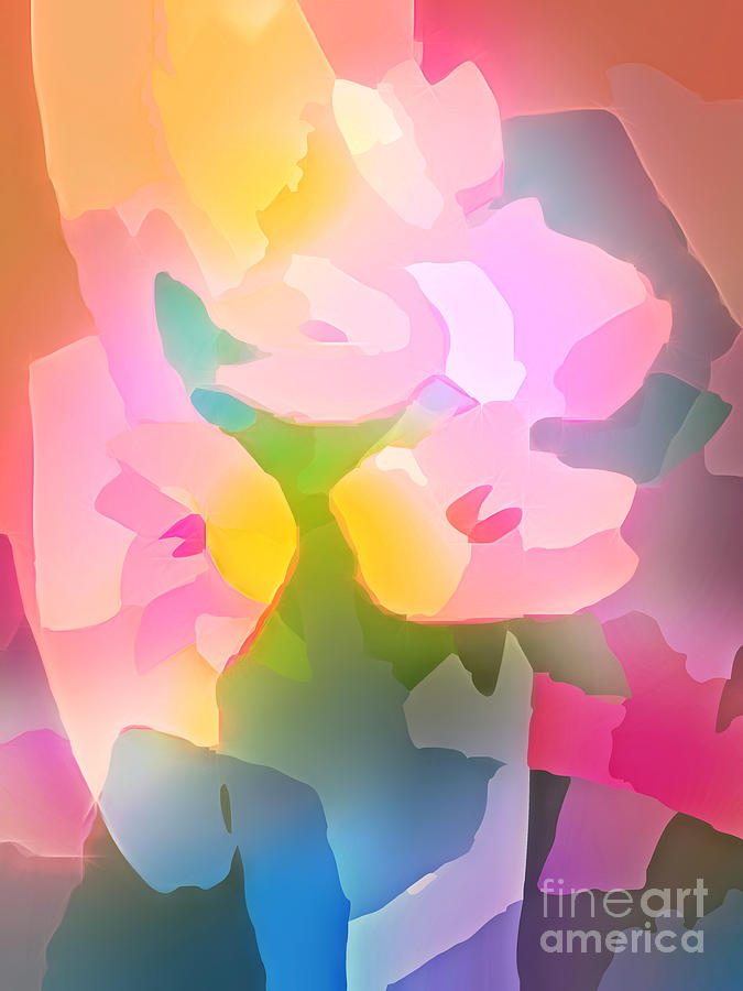 Flower Deco IIi Digital Art  - Flower Deco IIi Fine Art Print