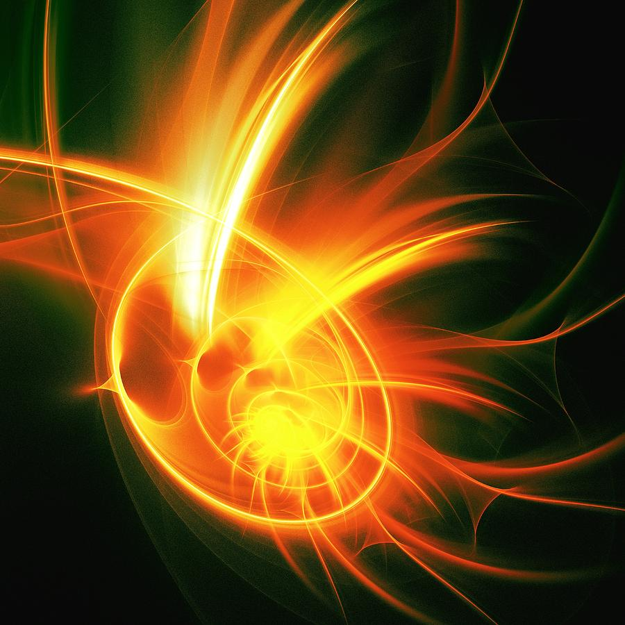 Flower Energy Digital Art  - Flower Energy Fine Art Print