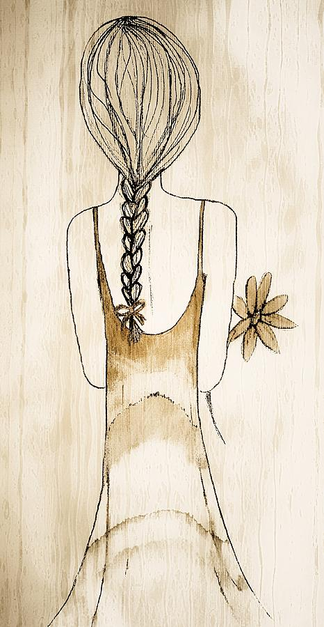 Flower Girl 3 Painting  - Flower Girl 3 Fine Art Print