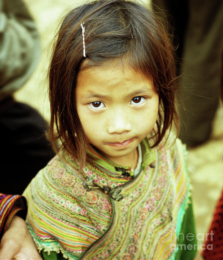 Flower Hmong Girl 02 Photograph  - Flower Hmong Girl 02 Fine Art Print