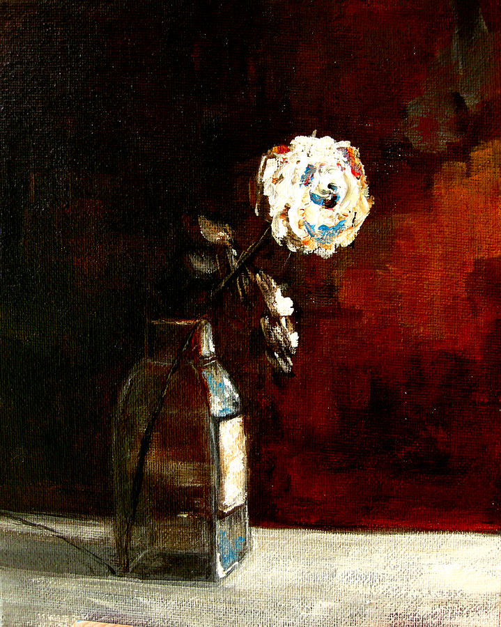 Flower In A Bottle Painting  - Flower In A Bottle Fine Art Print
