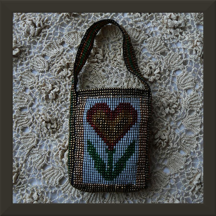 Flower Jewelry Bag Jewelry  - Flower Jewelry Bag Fine Art Print