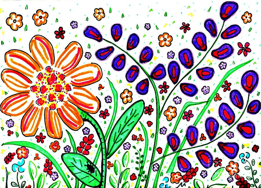 Flower Joy Drawing