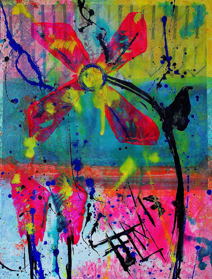 Flower Love Painting  - Flower Love Fine Art Print