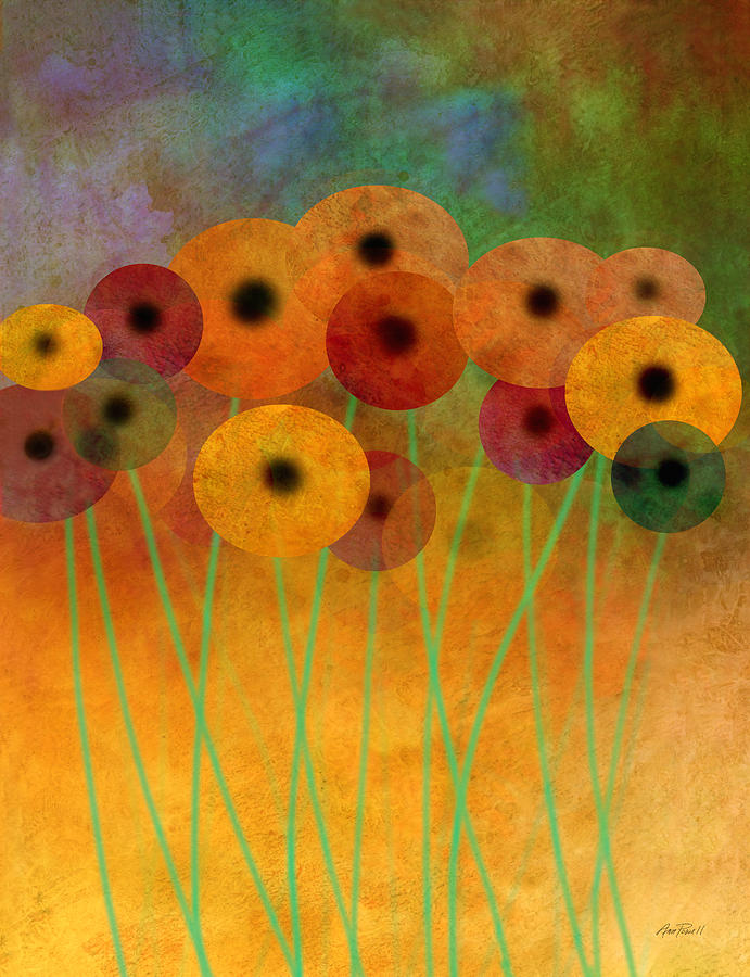 Flower Power Seven Abstract Art  Painting