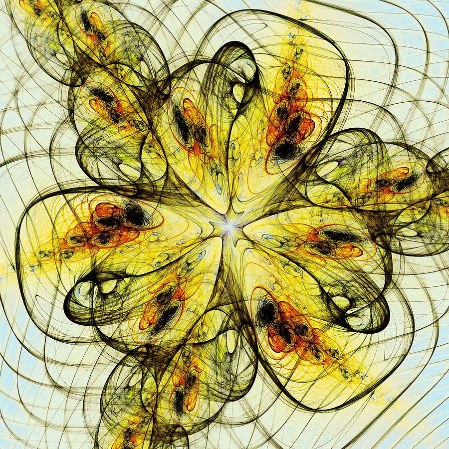 Flower Sketch Digital Art  - Flower Sketch Fine Art Print