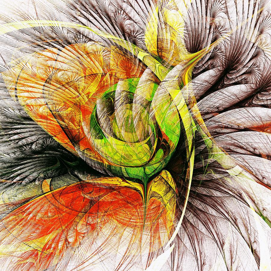 Flower Spirit Digital Art  - Flower Spirit Fine Art Print