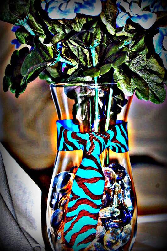 Baby Shower Glass Art - Flower Tie by Joyce Brooks