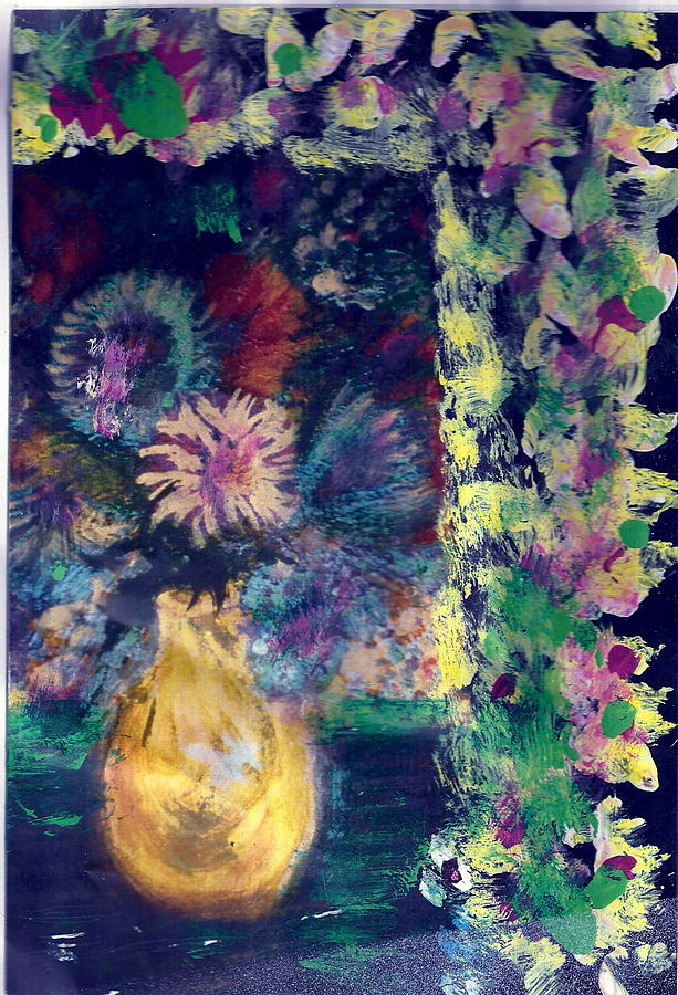 Flowers All Around Me Painting  - Flowers All Around Me Fine Art Print
