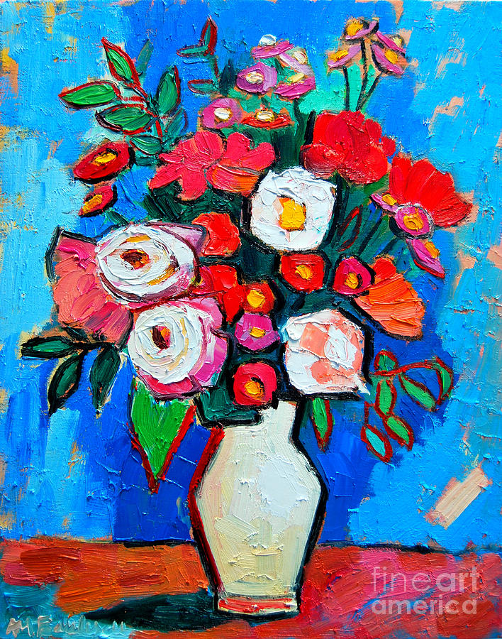 Flowers And Colors Painting  - Flowers And Colors Fine Art Print