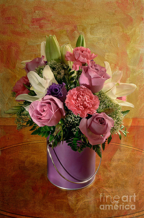 Flowers From A Friend Photograph  - Flowers From A Friend Fine Art Print