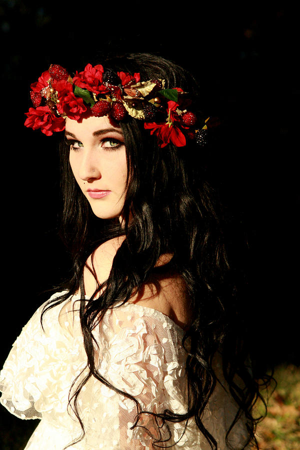Flowers In Her Hair Photograph