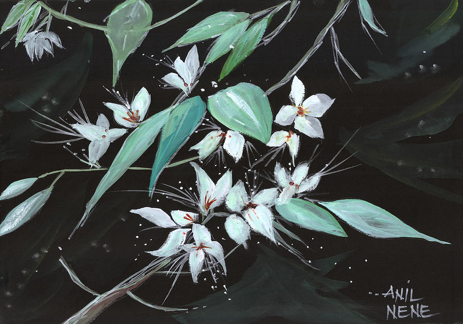 Nature Painting - Flowers N Petals by Anil Nene
