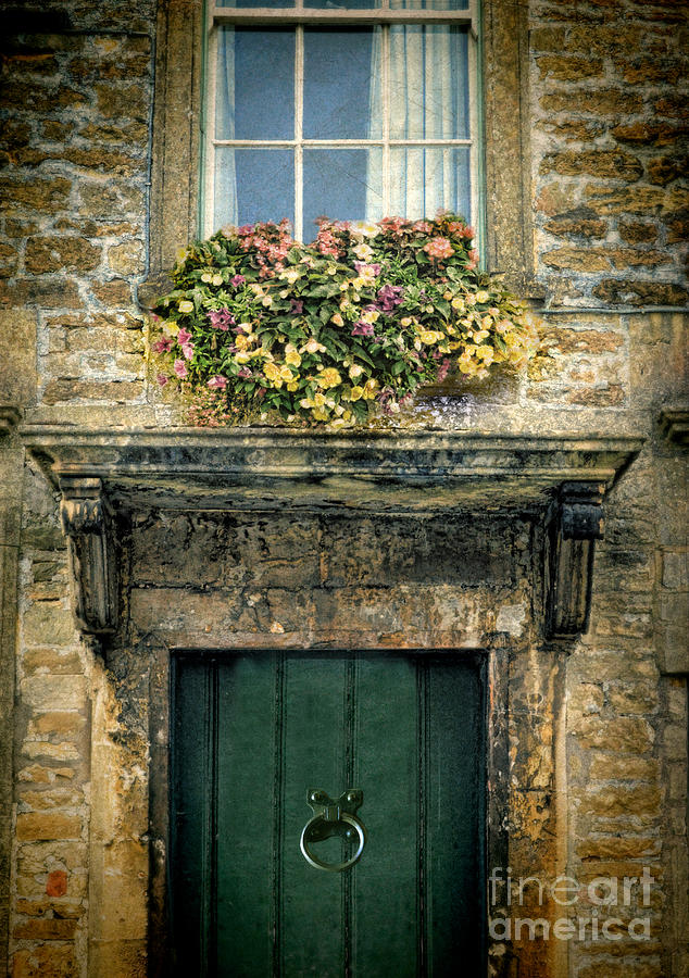Flowers Over Doorway Photograph  - Flowers Over Doorway Fine Art Print