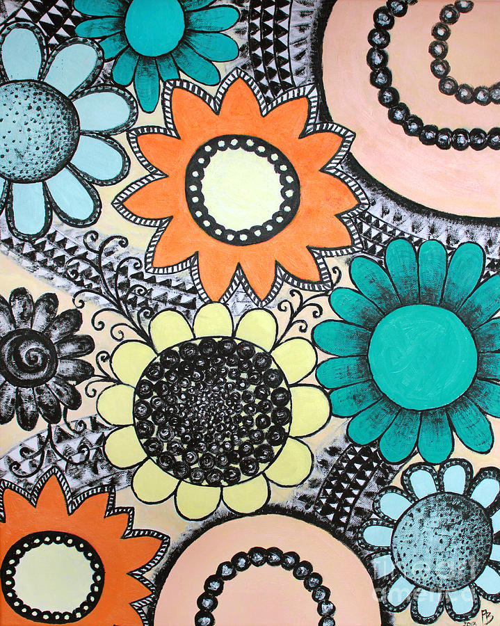 Flowers Painting - Flowers Paradise by Home Art