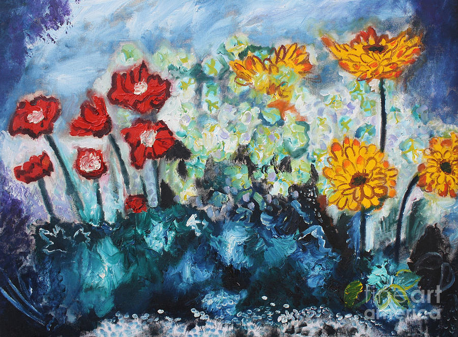 Flowers Through The Storm Painting