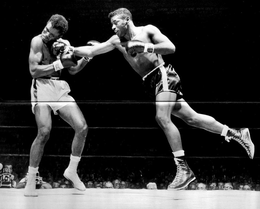 Floyd Patterson Throwing Hard Punch Photograph