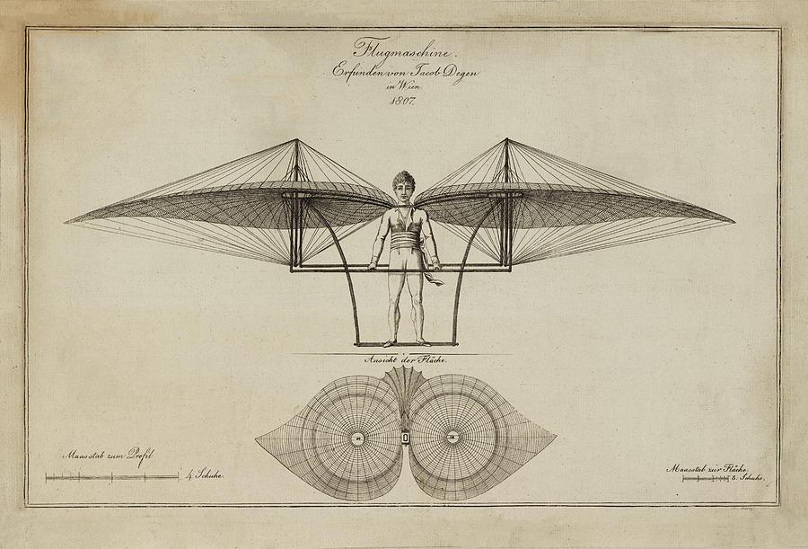 Flugmashine Patent 1807 Photograph