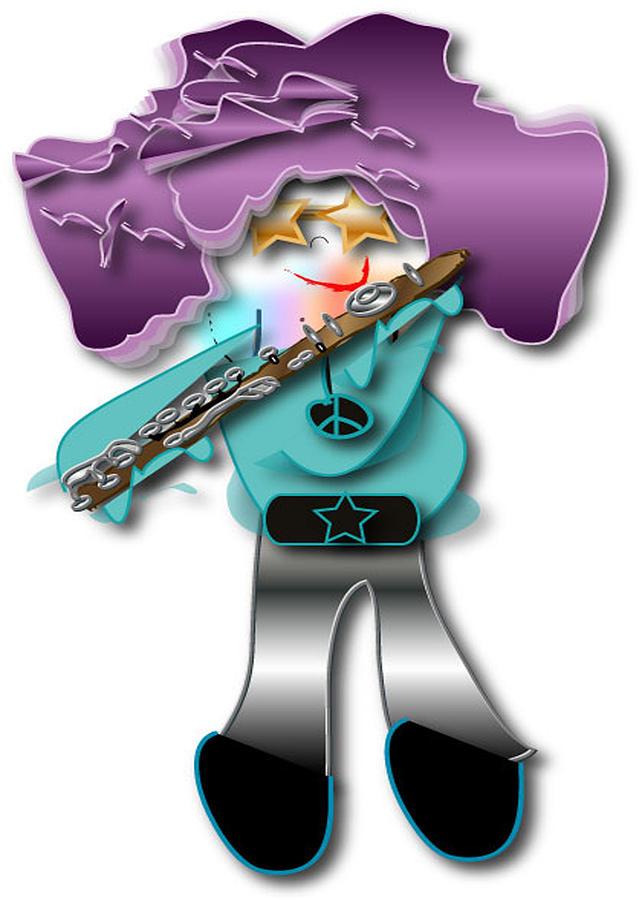 Flute Player Digital Art