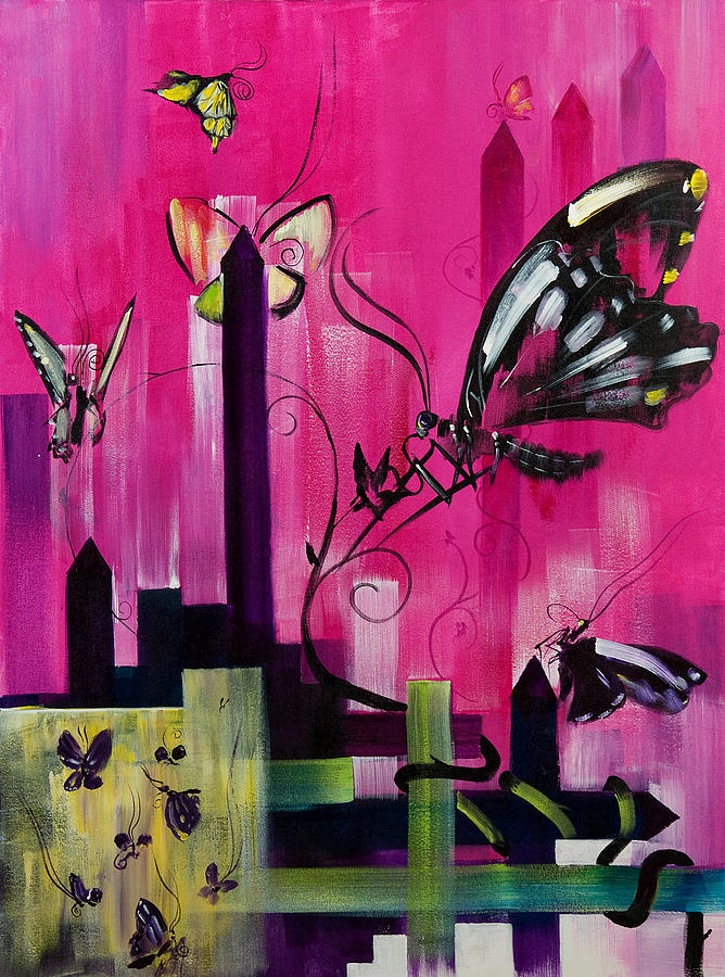 Butterfly Painting - Flutter by Gregory Fricker