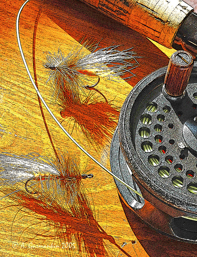 Fly Fishermans Table Digital Art Photograph