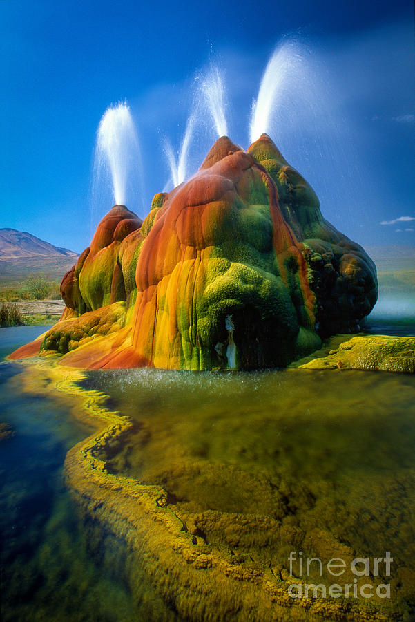 Fly Geyser Photograph - Fly Geyser Travertine by Inge Johnsson